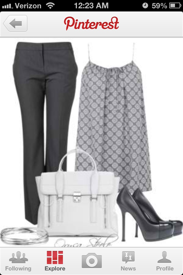 Summer business outfit..needs a jacket or cardigan though