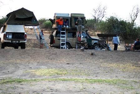 Camping at Ihaha Camp in Chobe NP
