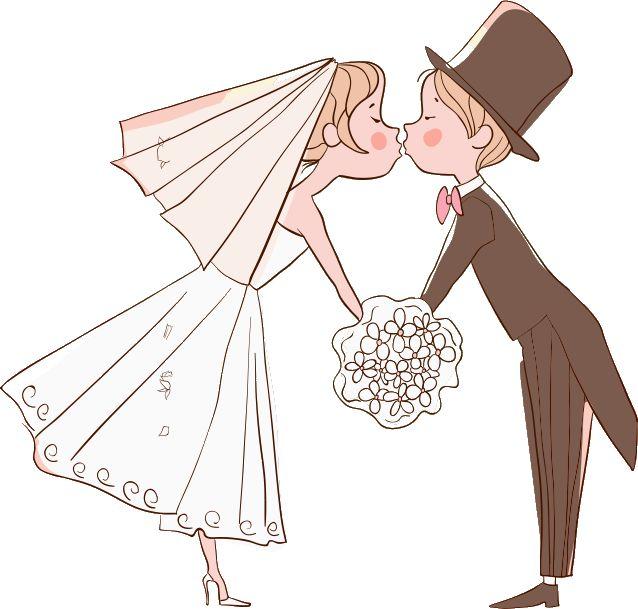 Dibujos. Clipart. Digi stamp - Novios. Bodas. Wedding.