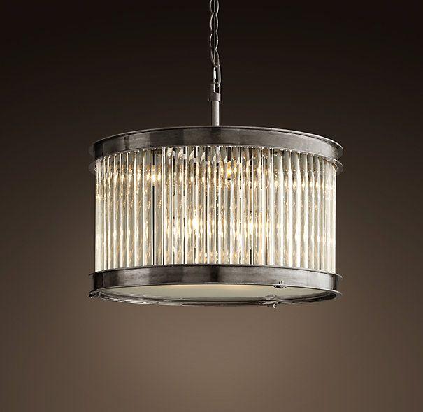 Restoration Hardware Lighting Chandeliers: 1920s Essex Crystal Rod Chandelier Small