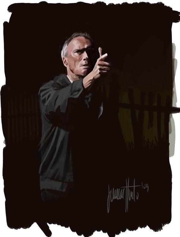 Clint Eastwood in Gran Torino by JaHueto.deviantart.com on @deviantART
