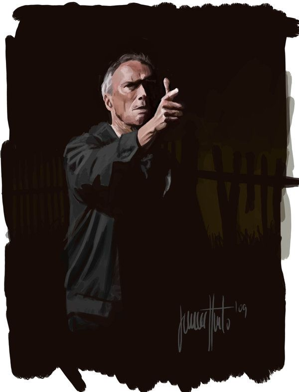 Clint Eastwood in Gran Torino by JaHueto.deviantart.com on @deviantART