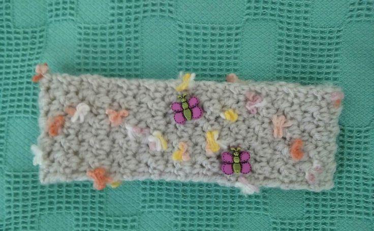 Crochet hair ribbon