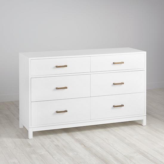 Cargo 6 Drawer Dresser White