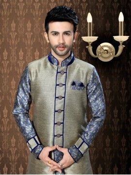 Beautiful Look Semi Sherwani