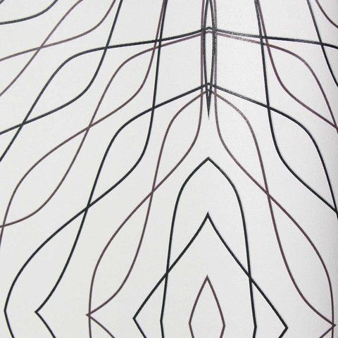 White with Black and Dark Plum Lines KR459 Wallpaper from the Globalove Collection by Karim Rashid
