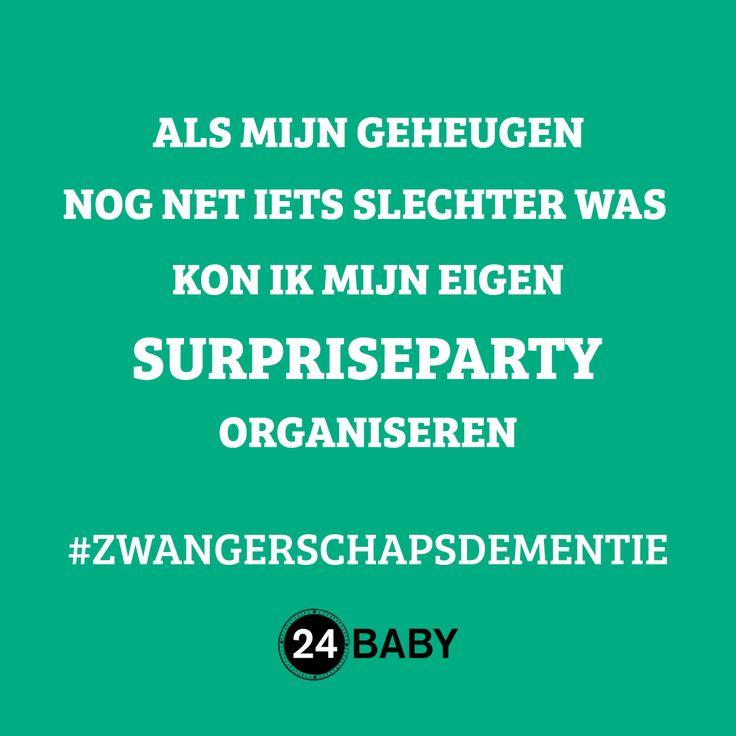 Zwangerschapsdementie #mama #baby #zwanger www.24baby.nl