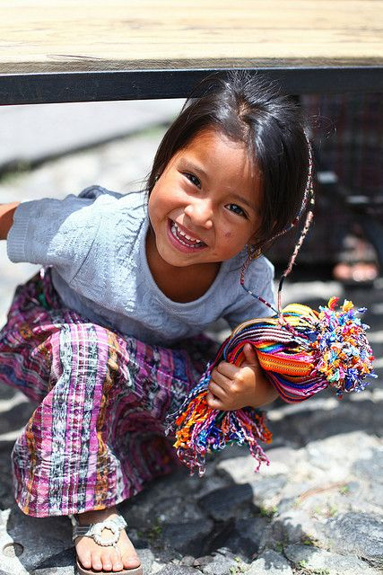 Girl Selling Bracelets in Antigua, Guatemala