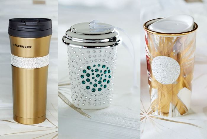 Swarovski-Studded Starbucks Drinkware Bring Holiday Cheers Early