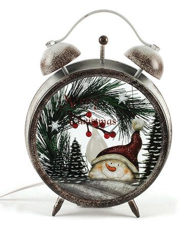 Another great find on #zulily! Snowman Lighted Alarm Clock Décor by Blossom Bucket #zulilyfinds