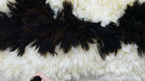 «Интерьерный войлок: длинноворсовый меховой ковер из овечьего флиса»