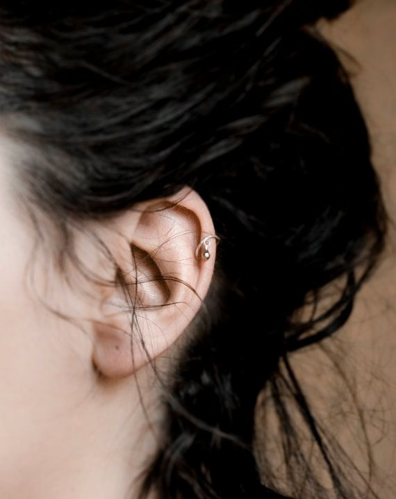 Helix Hoop with silver pendant, Silver Helix Piercing, Tragus Piercing, Helix Piercing, Lip Piercing, Septum Piercing, boho jewelry