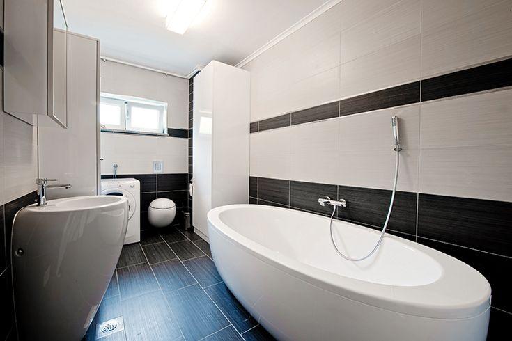 Badkamer voorbeelden zwart wit