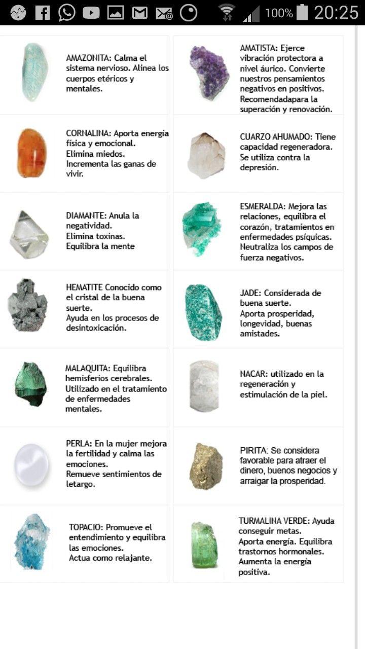 Pin de pablo salazar en info piedras stones crystals - Propiedades piedras naturales ...