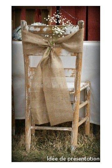 Noeud de chaise en lin - Lucy Jeanne Collection - Décoration de Mariage
