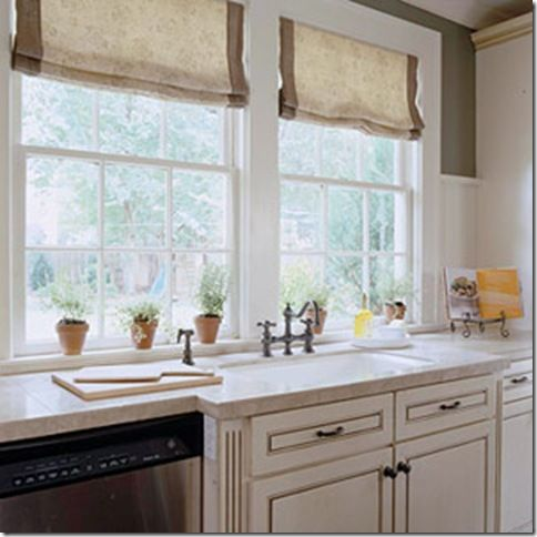 Google image result for for Fabric shades for kitchen windows