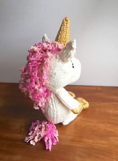 This pattern will show you how to knit a majestic unicorn. Since you'll be knitting with chunky yarn this pattern is fun to make and works up quickly.