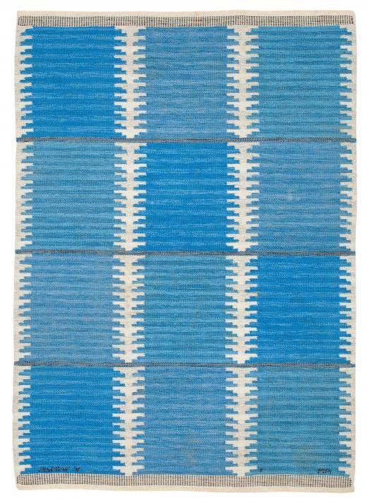 A Swedish Flatweave Rug (Blue Rosita) BB5206