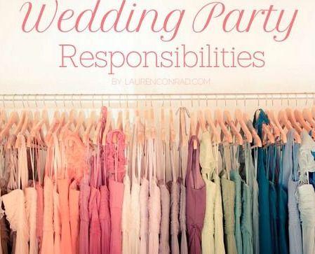 Wedding Bells: The Duties - Includes duties for Best Man/Groomsmen