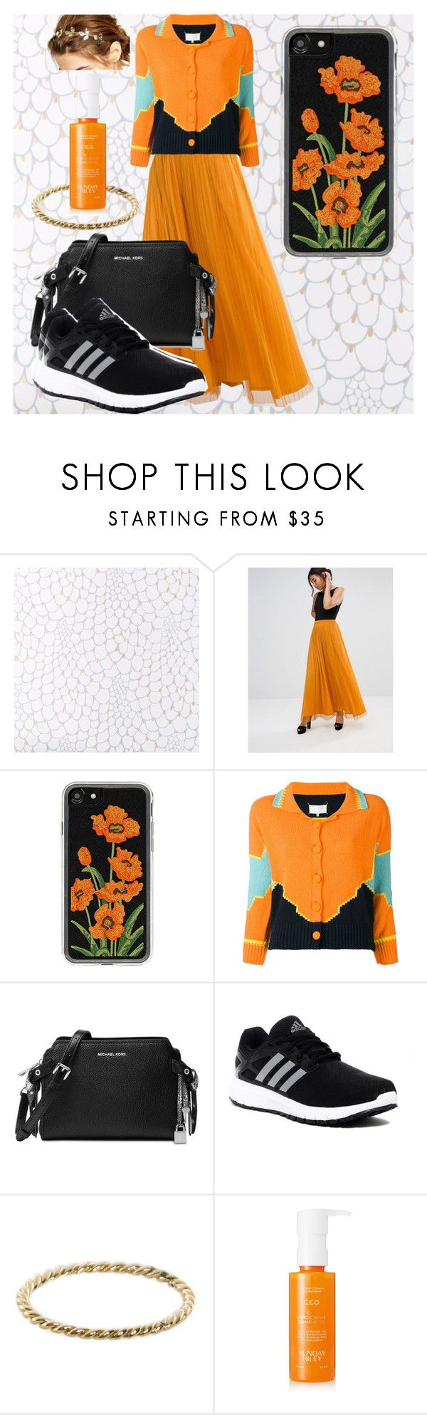 """""""Jump, jump, jump!"""" by ice78 ❤ liked on Polyvore featuring Boohoo, Zero Gravity, Maison Margiela, Michael Kors, adidas, Luna Skye, Sunday Riley and WithChic"""