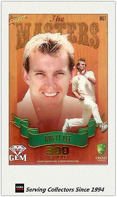 Cricket Cards 25579: 2009-10 Select Cricket Trading Cards Masters Gem Mg7 Brett Lee -> BUY IT NOW ONLY: $40 on eBay!
