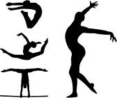 Gymnastic Silhouettes Royalty Free Cliparts, Vectors, And Stock Illustration. Image 8255644.