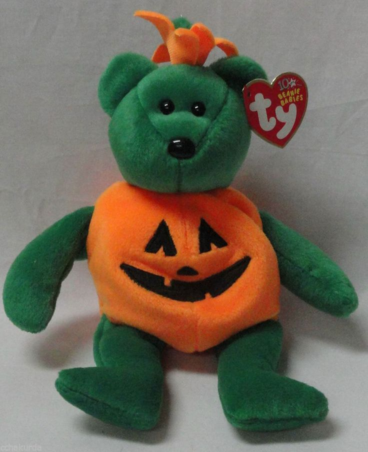 Tricky Ty Beanie Baby Bear Halloween Pumpkin Costume