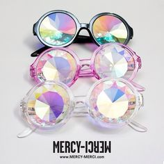 H0les holographic prism glasses