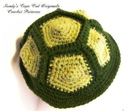 206 PDF Turtle Hat Crochet Pattern Infants to by SandysCapeCodOrig