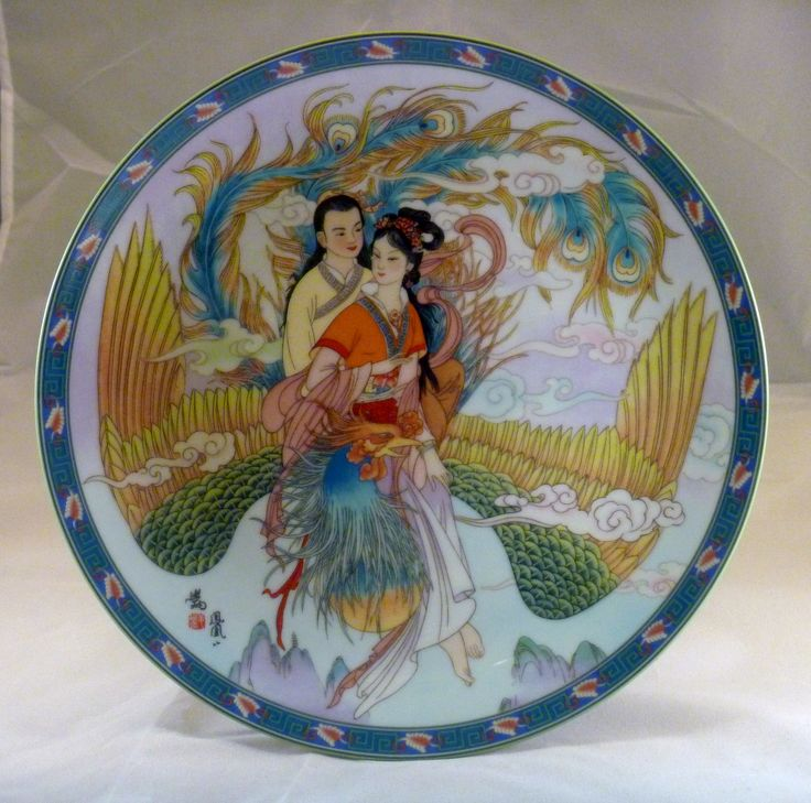 """1991 - TheLegends Of West Lake Serie By Jiang Xue-Bing.  Imperial Ching-te Chen - 8th plate  8 1/2"""""""