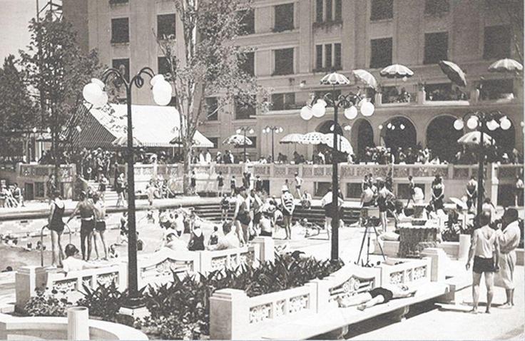 Bucuresti - Piscina hotelului Lido - interbelica