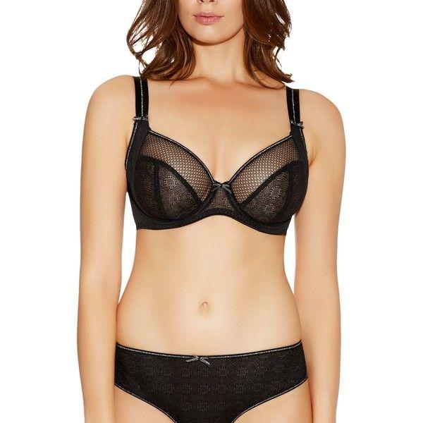 Freya Hero Side Support Plunge Bra (€35) ❤ liked on Polyvore featuring intimates, bras, freya bras, see through lingerie, underwire bra, plunge bra and transparent bra