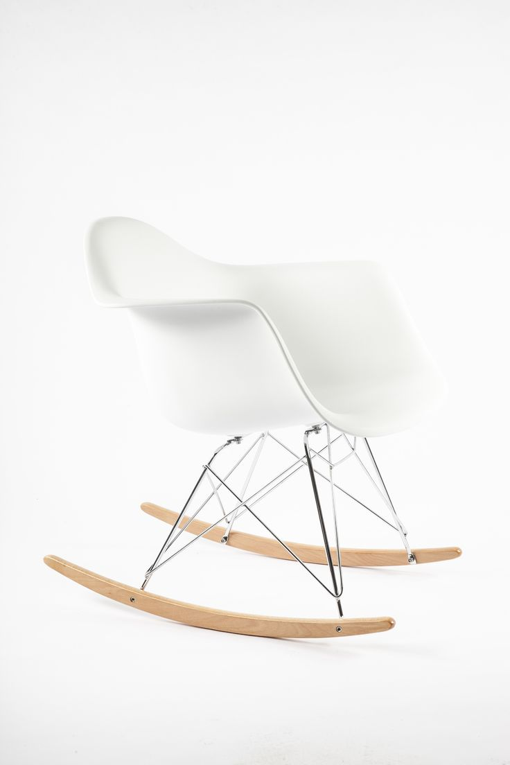 RAR Molded Plastic Rocking Chair - White Eames Rocking Chair http://www.franceandson.com/mid-century-modern-rar-molded-plastic-rocking-chair-white.html