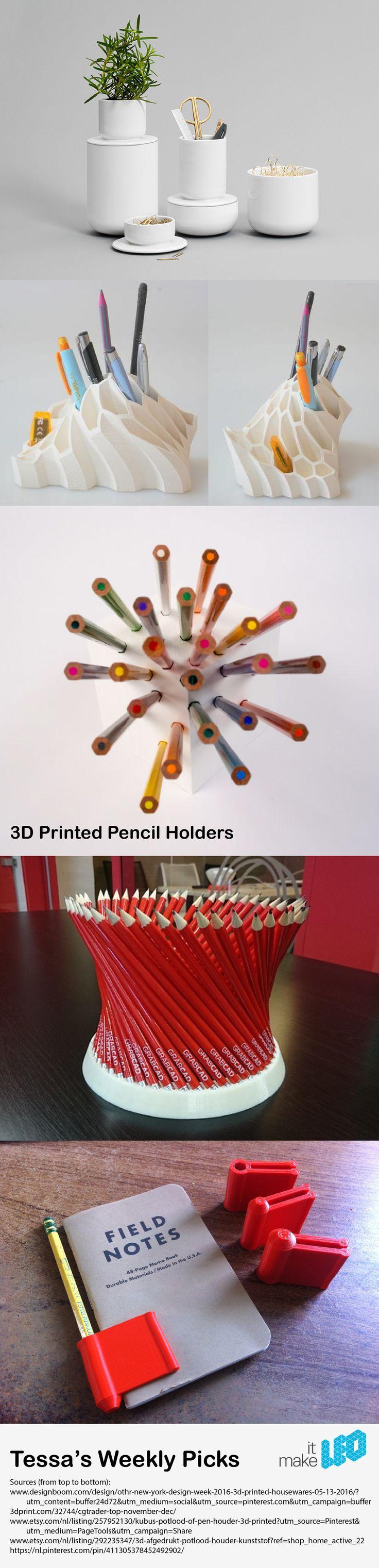 3D Printed Pencil Holders - Tessa's Weekly Picks