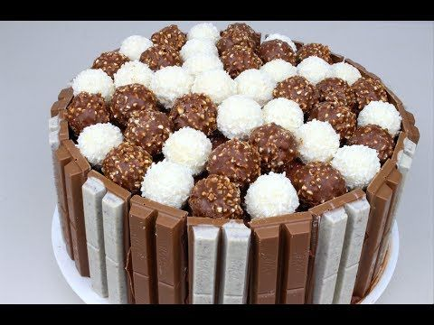 Kit Kit and Ferrero Rocher chocolate cake