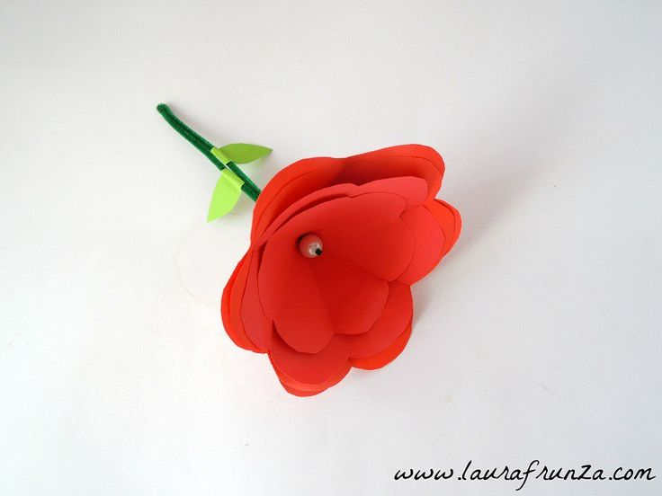 Very easy to do paper rose