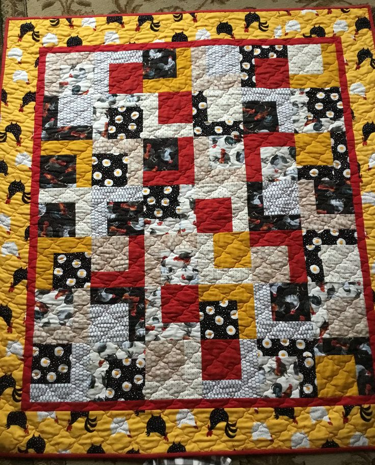 Country Chicken Quilt, Quilts for Sale, Handmade Quilts, Quilts for Gifts by NonnaQuilts on Etsy