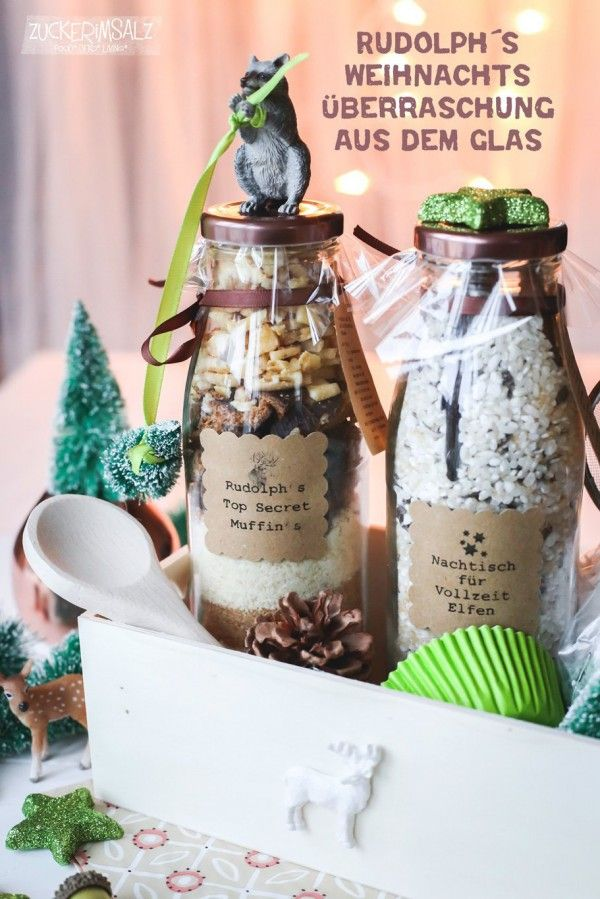 Rudolph`s Weihnachts-Überraschung aus dem Glas - Handmade Kultur