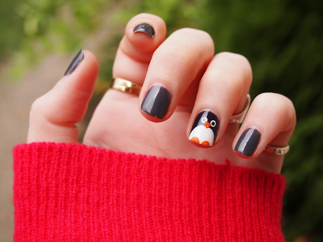 Nailart, pinguin