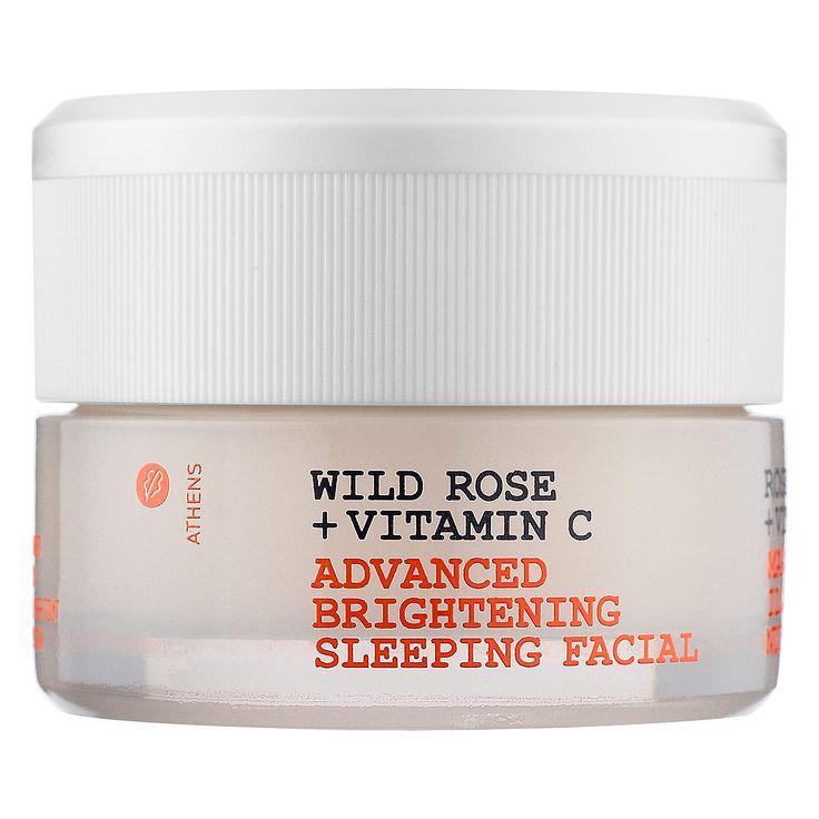 Korres Wild Rose + Vitamin C Advanced Brightening Sleeping Facial: Shop Masks | Sephora