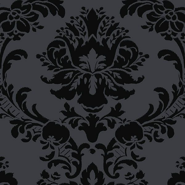 SL27548 - Black on Black Damask