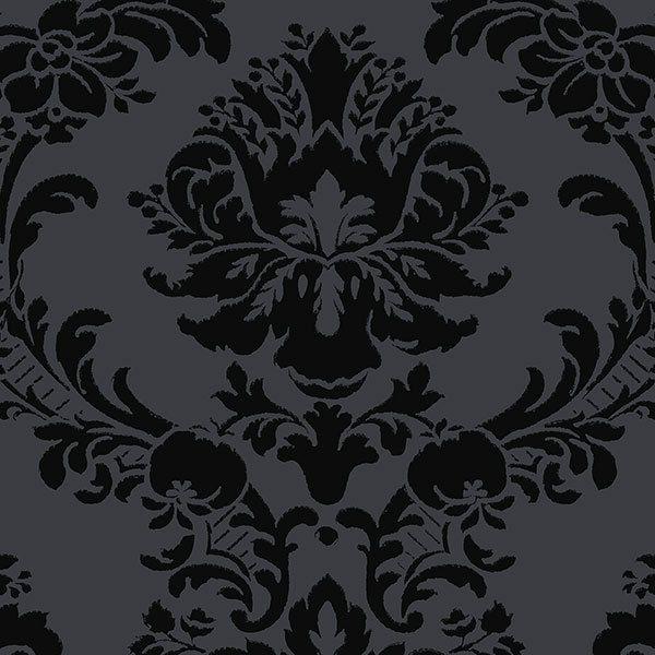 SL27548 - Black on Black Damask