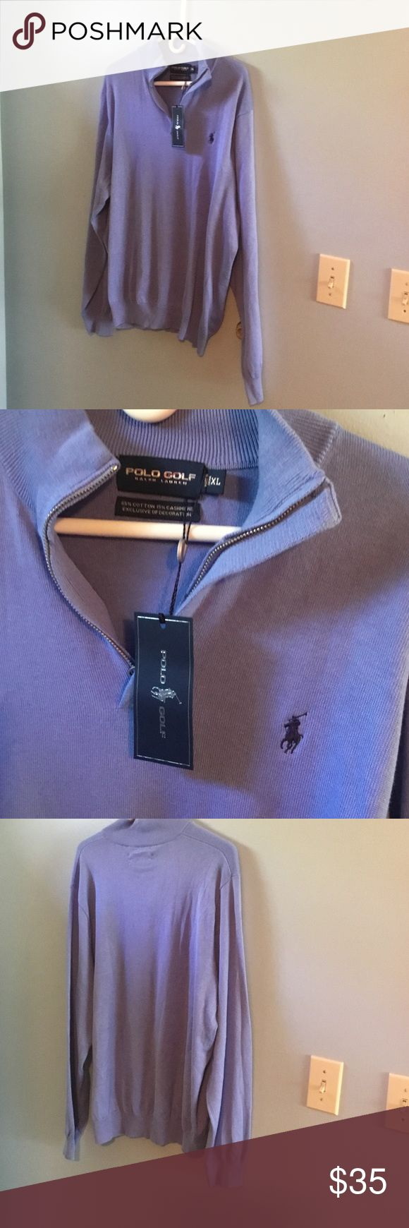 POLO GOLF SWEATER POLO. GOLF.   1/4 zip  sweater. Beautiful shade of blue pet and smoke free home thank you for looking Polo golf Sweaters Zip Up