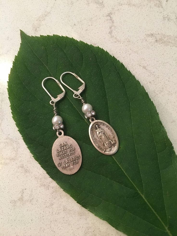A personal favorite from my Etsy shop https://www.etsy.com/listing/535227281/religious-medal-earrings-french-clips