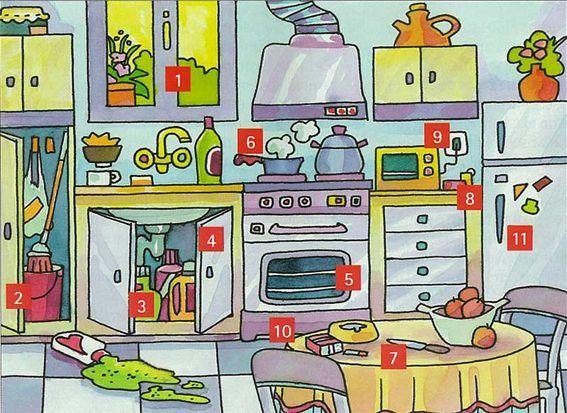 Vocabulario casa (números para consejos de seguridad)