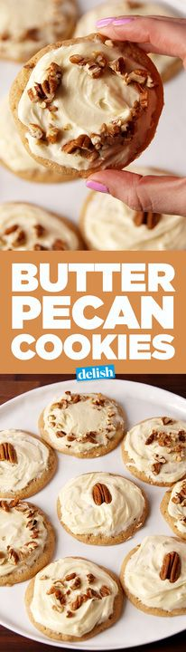The icing on these Butter Pecan Cookies is heavenly. Get the recipe from Delish.com.