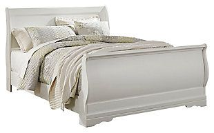 Best Anarasia Queen Sleigh Bed White Large Sleigh Beds Bed 640 x 480