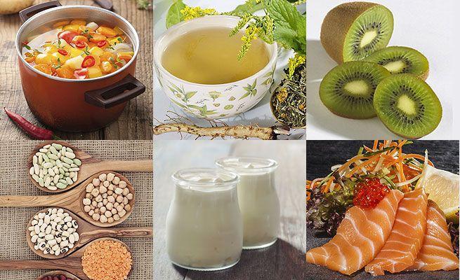 Alimentos para mantener la gripe lejos....