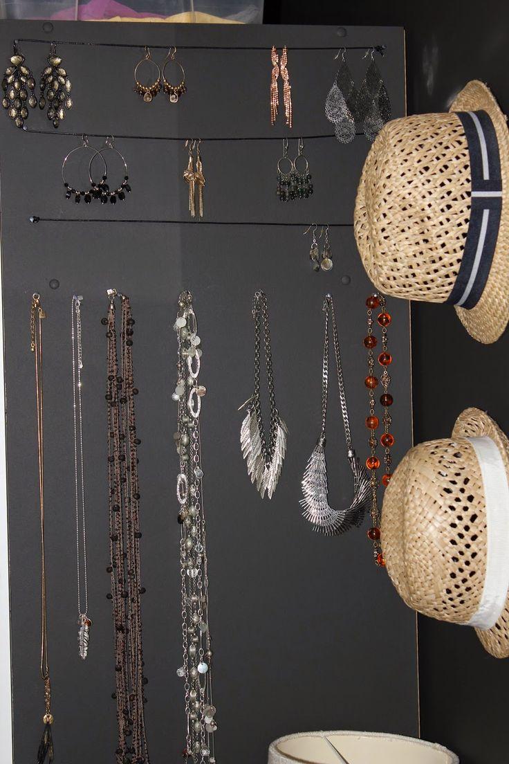 Jewelrywall, diy, bedroom