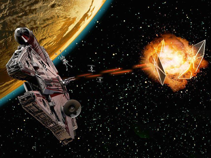 Películas La guerra de las galaxias  Millennium Falcon Fondo de Pantalla